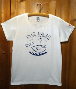 画像1: 134R T-Shirts Ladies white KujiaHawaii