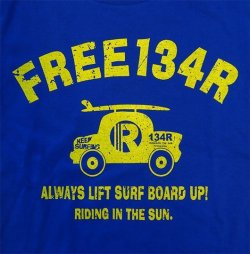 画像4: 134R T-Shirts Kids blue surfcar