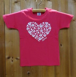 画像1: 134R T-Shirts 2016 Kids heart Pink