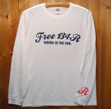134R Long T-Shirts RIDIG IN THE SUN white