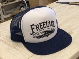 134R Mesh Cap EagleWave Logo Wh/Ny